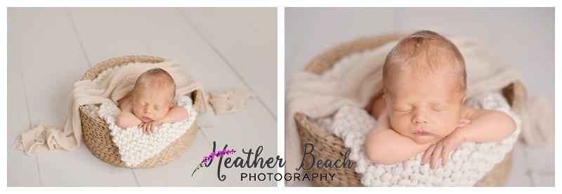 baby in a basket, Newborn photos