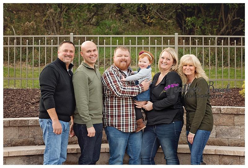 extended family, family of 3, pregnancy announcement, girl, grandparents