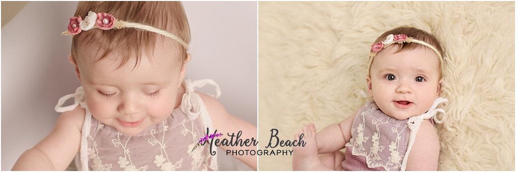 6 month, studio, Sun Prairie baby photographer, Sun Prairie portrait photographer, Madison baby photographer, fur, happy baby