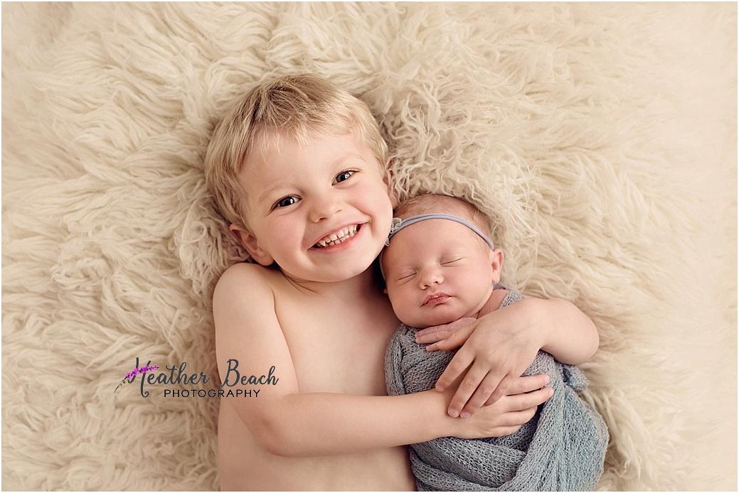 Sun Prairie newborn photography, Madison newborn photography, newborn with brother, newborn with sibling, newborn photography