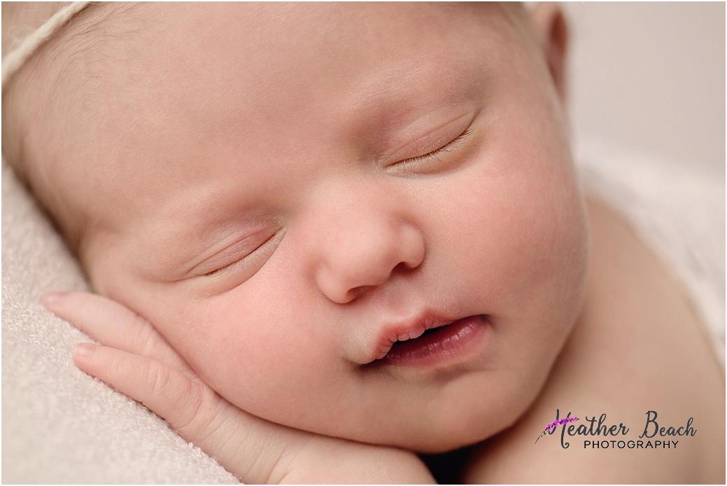 Sun Prairie newborn photography, Madison newborn photography, newborn with headband, halo, newborn girl, newborn photography, studio photography
