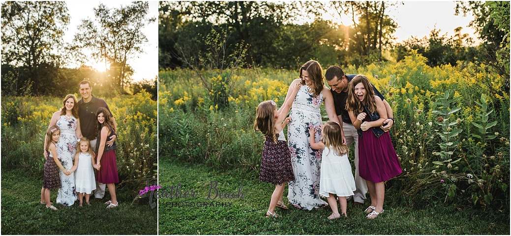 Family photography, portrait photography, Sun Prairie, Madison, family of 5, family with three girls
