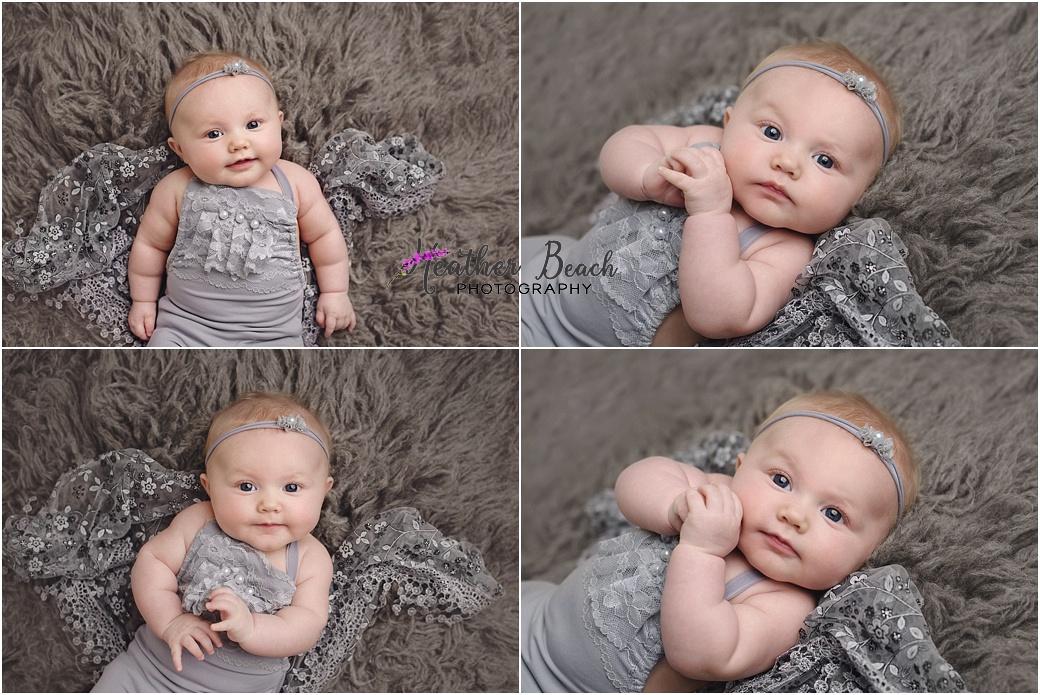 Sun Prairie baby photographer, Madison baby photographer, Sun Prairie portrait photographer, Sun Prairie studio photographer, 3 month baby girl, milestone photos, santa,