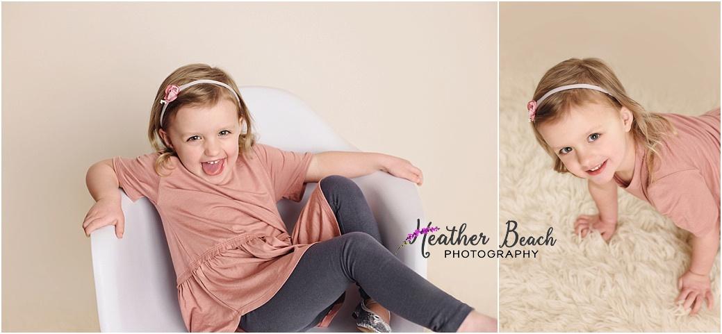 Sun Prairie child photographer, Sun Prairie portrait photographer, Madison child photographer, Madison portrait photographer, child photography, flowers, bench, little girl, studio photography