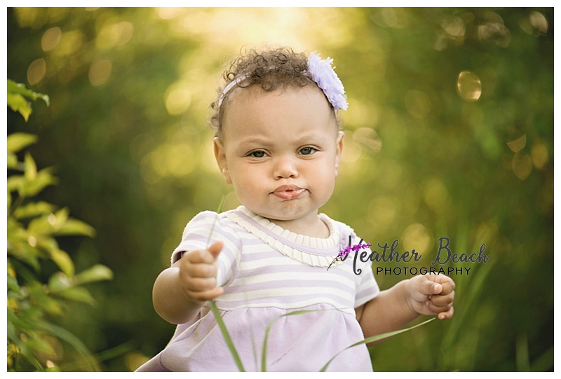 one year old, outdoor, Sun Prairie baby photographer