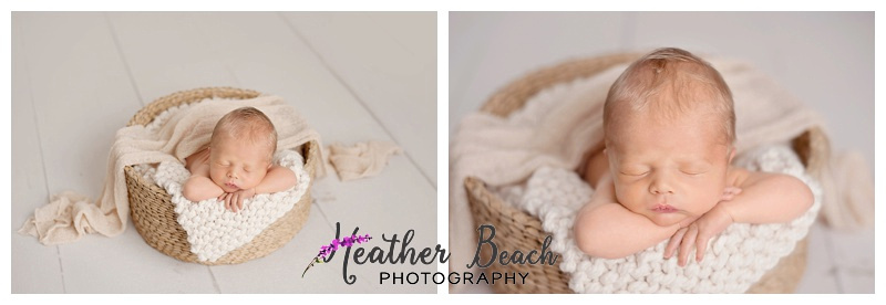 baby in a basket, Newborn photos