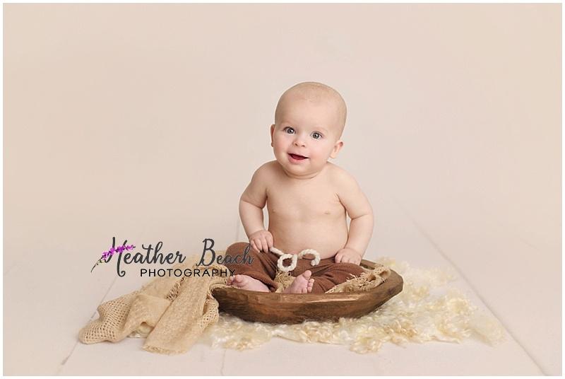6 month boy studio photo session