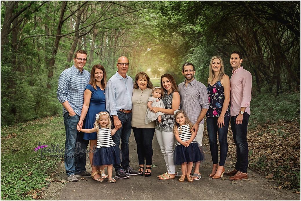 Sun Prairie family photographer, Madison family photographer, extended family photography, children, grandchildren, park