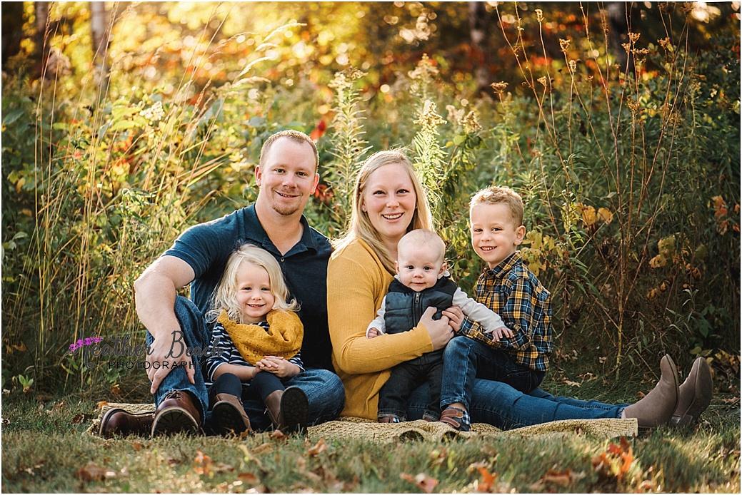Sun Prairie family photographer, Madison family photographer, Sun Prairie, WI photographer, family of 5, fall photos, child photography, Sun Prairie baby photographer
