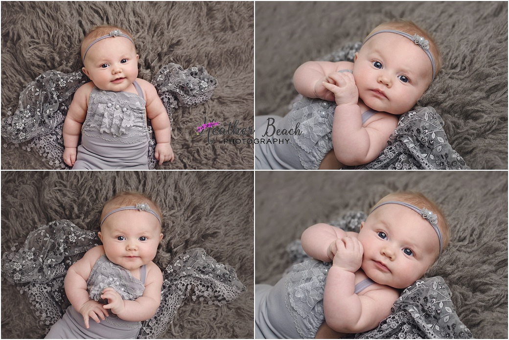 Sun Prairie baby photographer, Madison baby photographer, Sun Prairie portrait photographer, Sun Prairie studio photographer, 3 month baby girl, milestone photos, santa,
