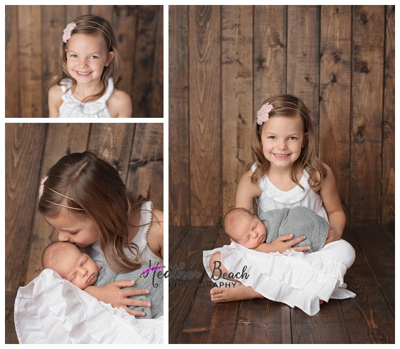 newborn and sibling portraits