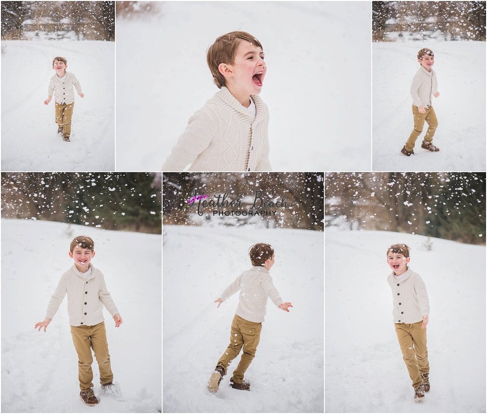 Sun Prairie family photographer, Madison family photographer, Sun Prairie portrait photographer, Sun Prairie child photographer, outdoor photography, snow portraits, snow photo session, family of 3, boy, christmas photos