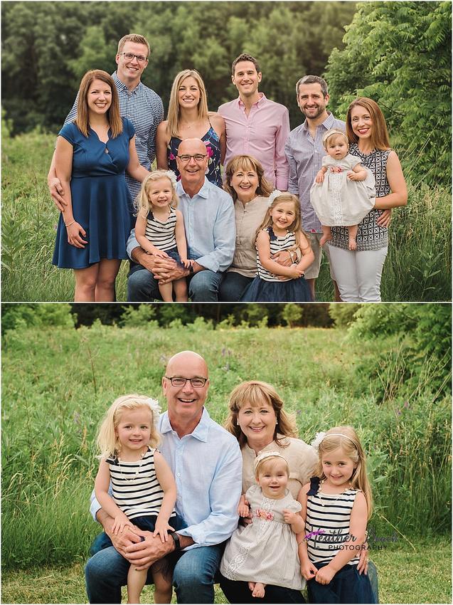 Sun Prairie family photographer, Madison family photographer, grandkids, kids, extended family photos, park, trees