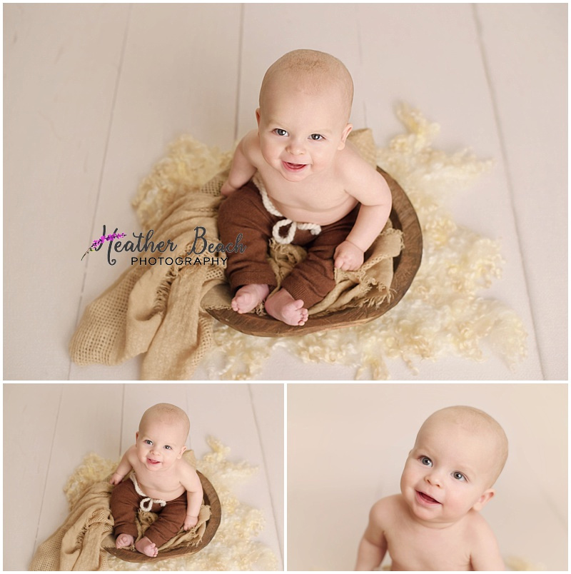 6 month boy studio photo session