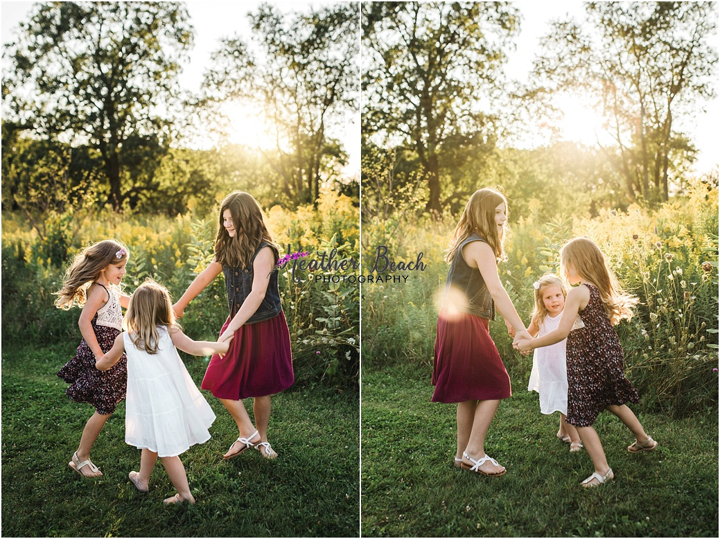 siblings, sisters, 3 sisters, family photography, child photography, Sun Prairie, Madison