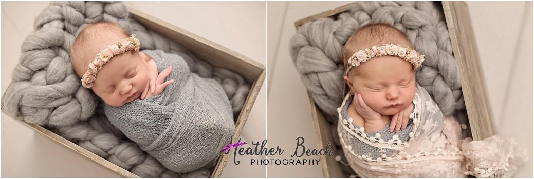 Sun Prairie newborn photography, Madison newborn photography, newborn in bucket, newborn with props, newborn photography