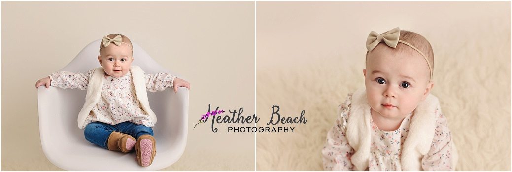 Sun Prairie baby photographer, Madison baby photographer, baby photography, Sun Prairie studio photography, chair, cute baby, child photography, Sun Prairie portrait photographer, Madison portrait photographer