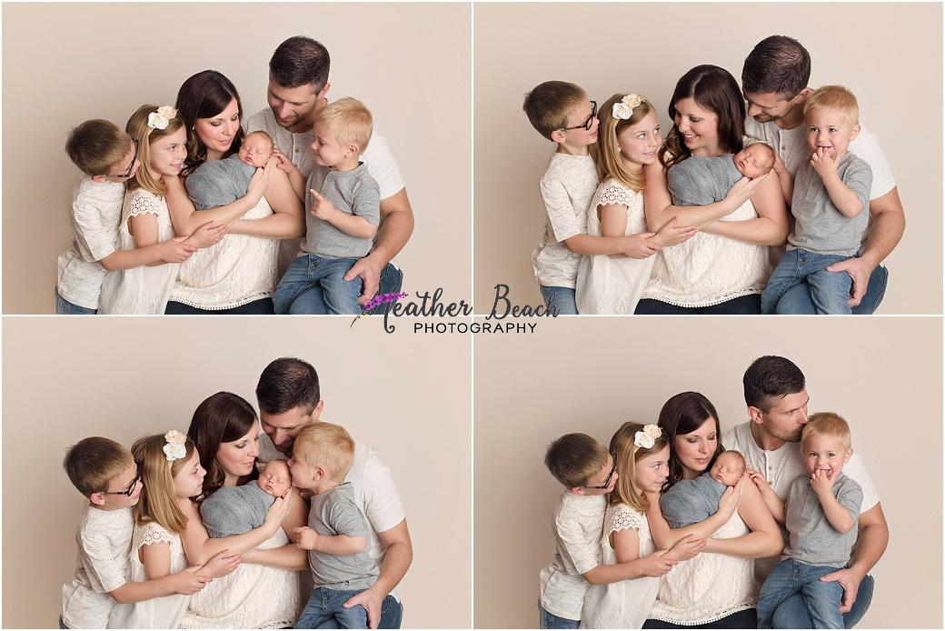 newborn photos, family of 6, Madison baby photographer, Sun Prairie newborn photographer
