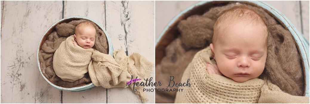 newborn photos, bucket, Madison baby photographer, Sun Prairie newborn photographer