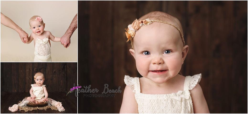 Sun Prairie baby photographer, Madison baby photographer, baby girl, bench, one year old, cute baby, smash and splash, cake smash, bubble bath, wood