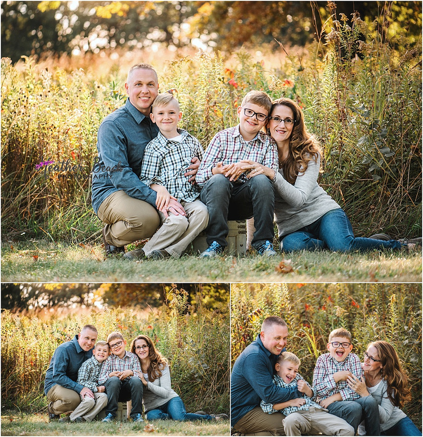 Madison family photography, Sun Prairie family photography, portrait photography, family of four, fall family photos, brothers, siblings, Token Creek