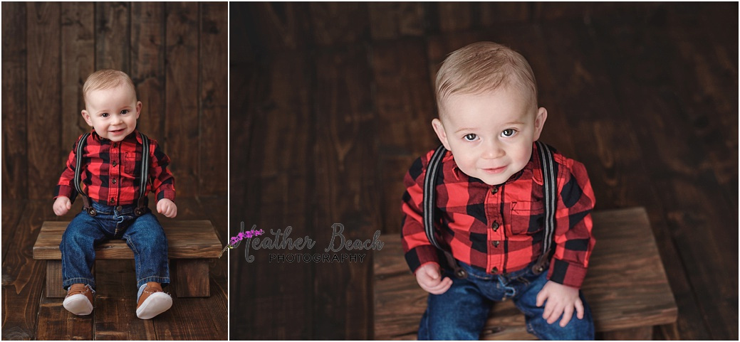 Sun Prairie baby photographer, Madison baby photographer, Sun Prairie portrait photographer, Sun Prairie child photographer, studio photographer, wood backdrop, one year old, baby boy, portrait photos